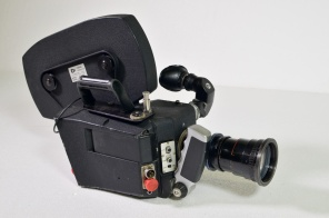 CP 16mm camera with 10:100 Angenieux lens, 400ft magazine and articulating viewfinder