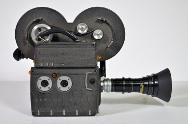 Auricon Pro 600 camera with 12:120 Angenieux 'C' mount lens, plus two 400ft magazines and accessories in leather cases