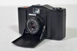 Minox 35mm stills camera and pouch