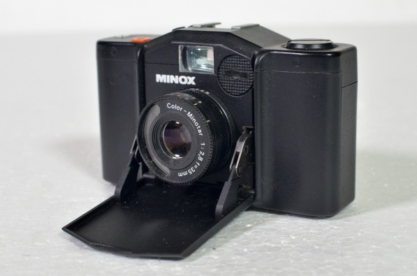 Minox 35mm stills camera and pouch