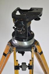 Arriflex 35mm drop though head and wooden tripod