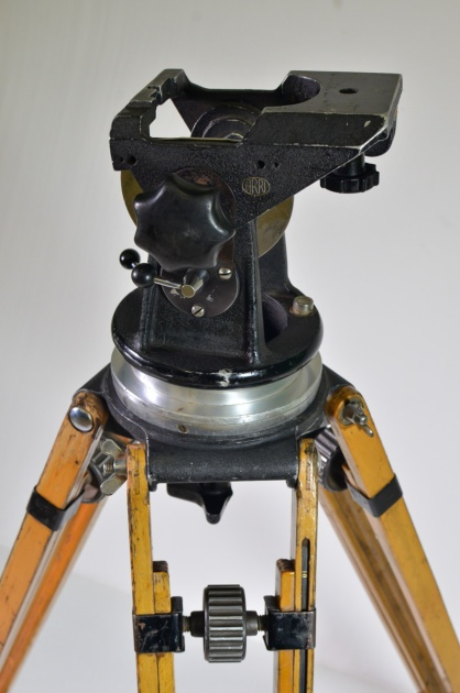 Arriflex 35mm drop though head and wooden tripod