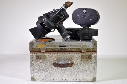 Arriflex IIA camera in original case with 400ft and 200ft magazines and variable speed motor