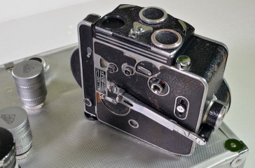 Paillard Bolex wind-up camera with six prime lenses
