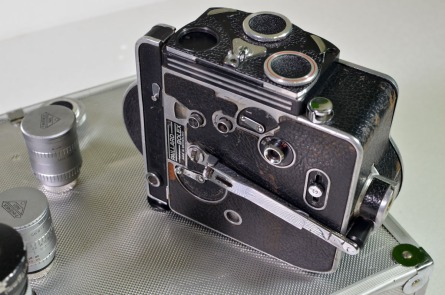 Paillard Bolex wind-up camera with six prime lenses