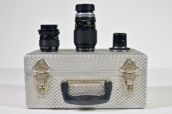 Canon 50mm FD macro lens and 100mm FD macro lens, with transit case